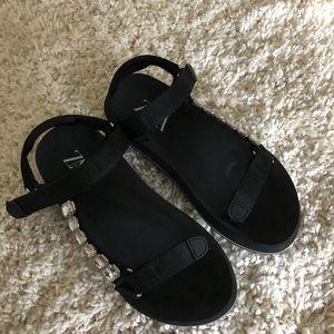 Zara Sandals with Rhinestones